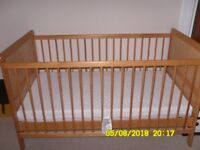 Cot/Cot Bed for sale...Excellent condition...Seldom used.