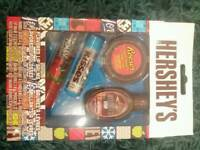 Hersheys, reeses, jolly rancher lip gloss & lip balm gift set