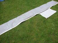 Caravan awning skirt 3.75m long, 50cm deep with single axle wheel-arch cover and figure of 8 strip