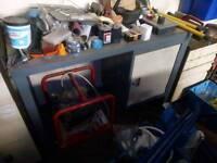 Steel mechanic bench