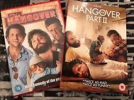The Hangover dvd's 1 & 2