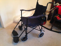 Powertech Lightweight Foldable Wheelchair with Brakes