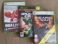 2 Xbox 360 Games and Xbox Game-Including: Gears of War, Splinter Cell & NBA Live