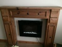 Mexican pine fire surround