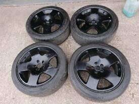 """Genuine OEM Audi 17"""" 5x112 alloy wheels vw seat skoda vag german"""