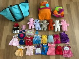 Lil Luvables Fluffy Factory Bears, Furniture and Clothes