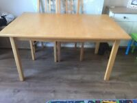 Extendable Dining Table (seats up to 8) chairs not included