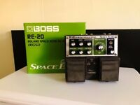 BOSS RE-20 (Roland Space Echo) Guitar Reverb/Delay Pedal