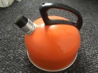 Vintage Orange Swan Kettle