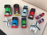 A bundle of various thomas the tank engine trains