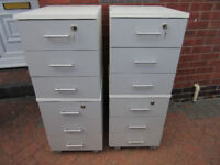 6 Drawer x 2 Filing Cabinets on Wheels - One set can be seperated