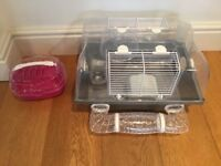 Small Starter Hamster Cage with accessories