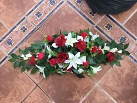 Flower arrangement/tribute