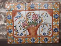 Spanish ceramic tile picture