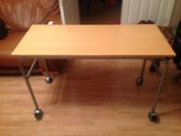Jay-Be Beech wooden table/desk for use in office/study/child's bedroom