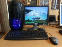 Full Desktop PC System. Windows 10, AMD3 Quad Core 2.80GHz, 2.00GB Ram. Can be upgraded for Gaming.