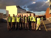 Setting out, site engineer and land surveying training at Finchley College in London