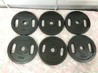 120kg Cast Iron Olympic Metal Weights Plates.