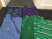 5 men's genuine Ralph Lauren Tshirts all XL