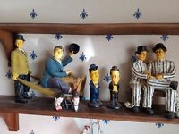 Laurel & Hardy statues. Collectable pieces. Excellent condition.