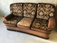 3 SEAT SOFA WITH REVERSABLE CUSHIONS