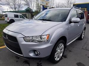 2011 Mitsubishi Outlander XLS AWD - 7 PASSAGERS - TOIT + CUIR!!
