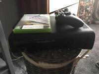 Xbox 360 with 2 games and one controller