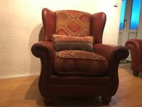 Tetrad Eastwood Armchair Wing Chair Buffalo Leather