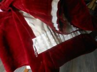 Curtains Red 88 wide x 90 Drop