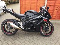 Suzuki GSXR600 K8 BLACK Excellent Sportsbike - NOT R6 OR ZX6R OR CBR