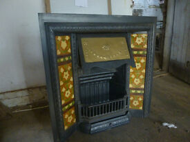 Antique Edwardian Fireplace with Tile Surround