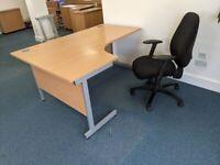 FREE SAME DAY DELIVERY - Corner L Shaped Office Desks (w) 1600mm x (d) 1200mm