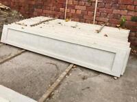 Wood grain concrete gravel boards / concrete plinths / kickboards