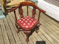 Chair, Padded Corner Chair in very good condition,