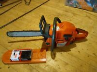 Husqvarna 357xp in good condition. Good bar, full chisel on 3/8 pitch