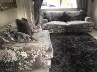 Crushed Velvet sofas