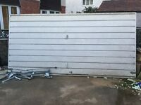 Double up-and-over garage door