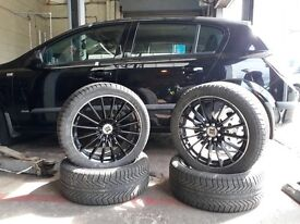 FOR SALE 125 ONO 4 X 21 5/45 X 17 Alloy wheels & Tyres Astra Multi Fit