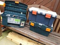 Tool boxes and assortment of tools
