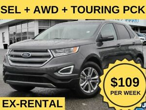 2018 Ford Edge SEL AWD|LEATHER|ROOF|NAV|TOURING PCK| $109/WK