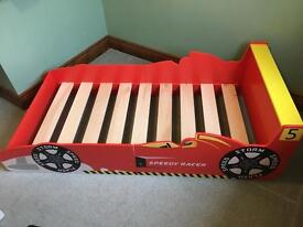 Toddlers car bed & mattress
