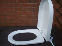 White D-shaped toilet seat 460mmx 355mm