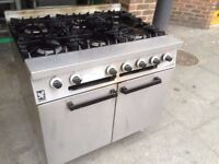 CATERING GAS COOKER OVEN COMMERCIAL FAST FOOD KEBAB CAFE CHICKEN RESTAURANT KITCHEN