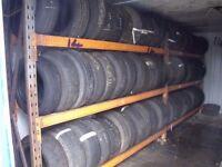 200 part worn tyres. Job lot. 13- 19 inch