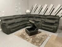 Beautiful brand new Harvey's electric recliner grey corner sofa