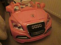 Girls Audi 12v Pink Electric Ride-on-Car