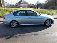 BMW 3 SERIES 2.0 318D M SPORT 4d 141 BHP (blue) 2009