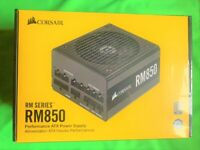 SEALED Corsair RM Series RM850 850 Watt 80 PLUS Gold Certified Fully Modular PSU Power Supply Unit