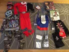 Collection of 6 dress up outfits, approx age 7-8 yrs, incl Oompa Loompa, Star Wars, P/Ranger