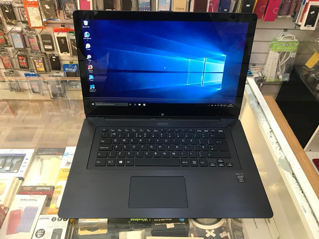 laptop vaio sony touchscreen